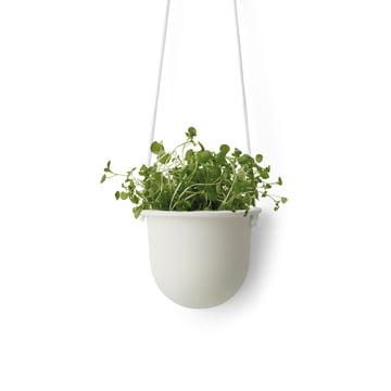 Der Hanging Vessel hängender Keramikblumentopf von Menu in weiß