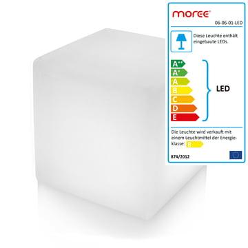 Moree - Cube Outdoor LED, Transluzent-weiß