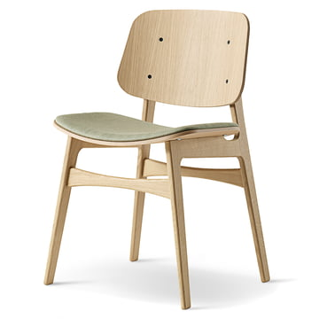 Søborg Stuhl von Fredericia aus Eiche gepolstert