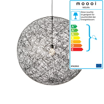 Moooi - Random Light Pendelleuchte, M, schwarz