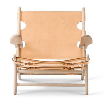Hunting Chair von Fredericia aus Eiche geseift und Sattelleder Natur