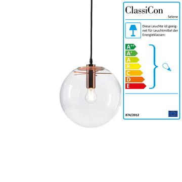 ClassiCon - Selene Pendelleuchte, Kupfer Ø 25 cm