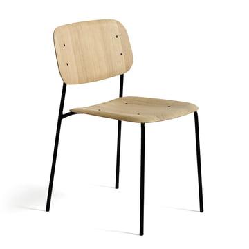 Der Hay - Soft Edge Stuhl in Eiche schwarz gebeizt mit gestell aus Stahl, pulverbeschichtet schwarz