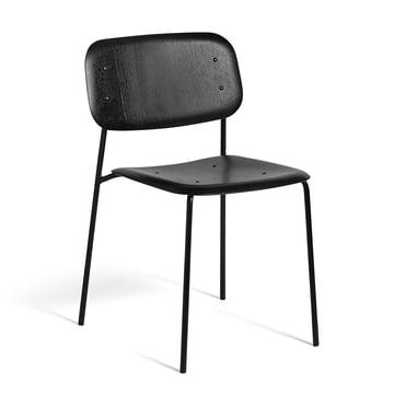 Der Hay - Soft Edge Stuhl in Eiche schwarz gebeizt und Gestell in Stahl, pulverbeschichtet schwarz