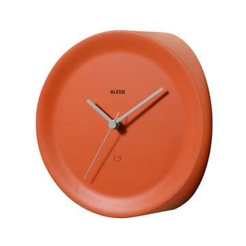 Ora In Eckenuhr von Alessi in Orange