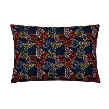 Das Rectangular Cushion, 48 x 73 cm in Hana No Mi dunkelblau / orange / gelb von Kvadrat