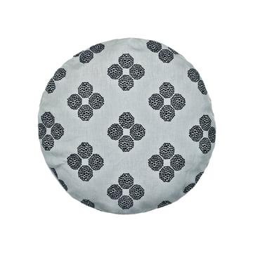 Das Circular Cushion, Ø 43 in Hana Beads grau / schwarz von Kvadrat