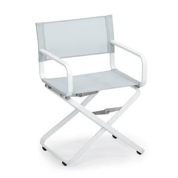 Weishäupl - Ahoi Sessel, Aluminium weiß / Batyline hellgrau