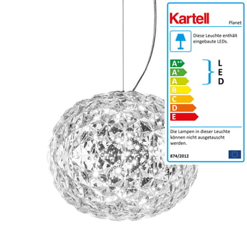 Planet LED Pendelleuchte von Kartell in Glasklar