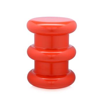 Pilastro Hocker/Beistelltisch von Kartell in Rot