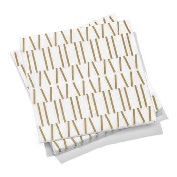 Vitra - Paper Napkins large, Broken Lines gold 40 x 40 cm
