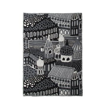 Kumiseva Decke von Marimekko in Schwarz/ Grau/ Weiß