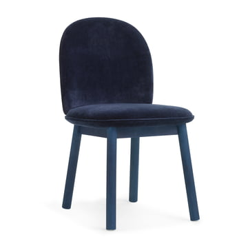 Ace Chair Velour von Normann Copenhagen in Dark Blue