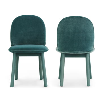 Ace Chair Velour von Normann Copenhagen in Lake Blue