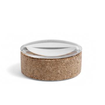 Hay - Lens Box mit Deckel S, stapelbar, Ø 10 cm, Kork / Glasde