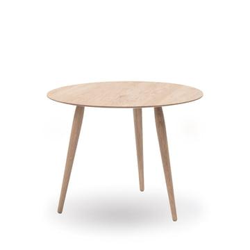 Play Round Wood Beistelltisch Ø 60 cm von bruunmunch in Eiche geseift