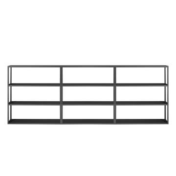 Das Hay - New Order Shelf 300 x 109 cm in charcoal schwarz