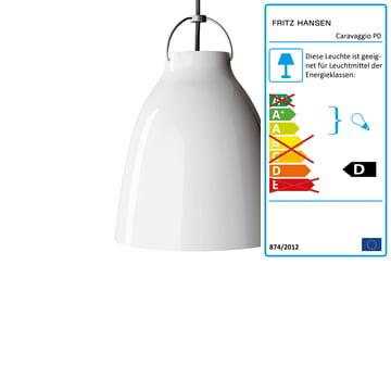 Lightyears - Caravaggio P0 Pendelleuchte glänzend, weiß