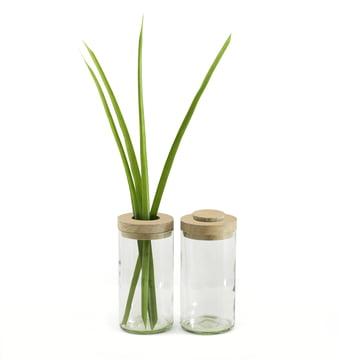 Vase & Dose von Die side by side
