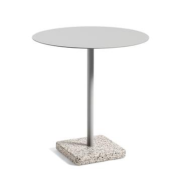 Hay - Terrazzo Tisch rund Ø 75 cm, grau / hellgrau