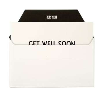 Design Letters - AJ Grußkarte, Get well Soon