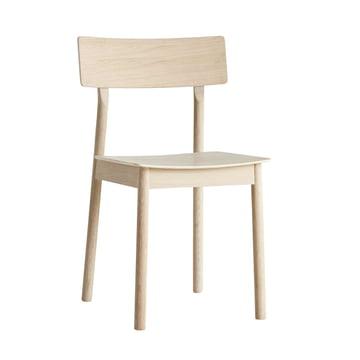 Pause Dining Chair von Woud in Eiche weiß pigmentiert