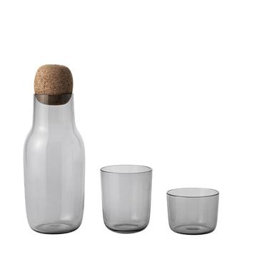 Corky Trinkglas mit Karaffe in Grau