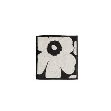 Marimekko - Unikko Mini-Handtuch 25 x 25 cm, schwarz / sand