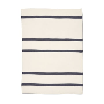 Stripes Geschirrtuch 2 von Skagerak Wisper White / Dark Blue