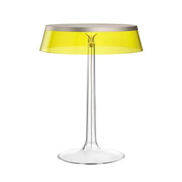 Die Flos - Bon jour Tischleuchte in chrom matt / Krone gelb