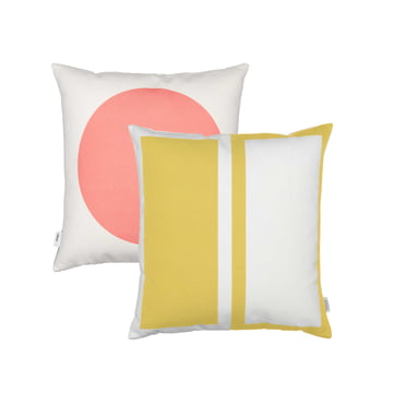 Graphic Print Pillow Rectangles / Circle 40 x 40 cm von Vitra in Pink / Senfgelb