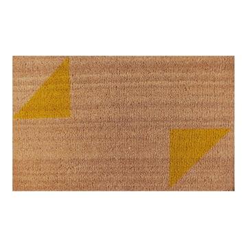 Die Ruckstuhl - Fußmatte mit Dreieck-Muster gelb
