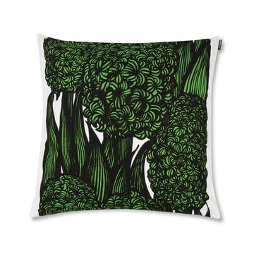 Der Marimekko - Hyasintti Kissenbezug 50 x 50 cm, grün / weiß / schwarz