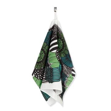 Das Marimekko - Siirtolapuutarha Geschirrtuch, grün / weiß