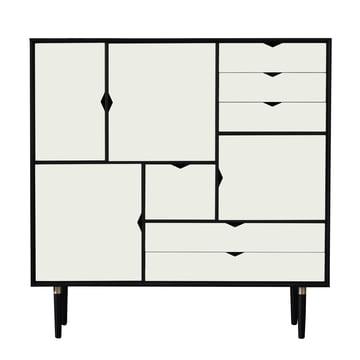 S3 Kommode von Andersen Furniture in Eiche schwarz lackiert/ Fronten weiß