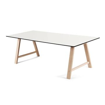 T1 Ausziehtisch 180 cm von Andersen Furniture (Gestell Eiche geseifet, Tischplatte Laminat, weiß)
