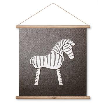 Zebra Zeichnung 40 x 40 cm von Kay Bojesen Denmark