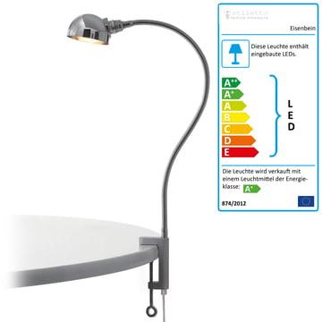 Eisenbein von Stiletto verchromt mit Halbkugel-Reflektor (LED)