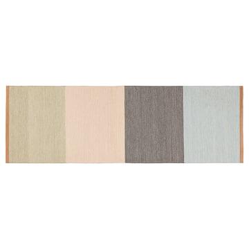 Design House Stockholm - Fields Läufer 80×250 cm, beige / rosa / braun / blau