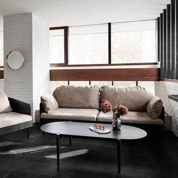 Septembre-Kollektion: Couchtisch, Sofa und Sessel