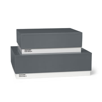 Storage Box 2er-Set von Pantone Universe in Cool Gray (9)