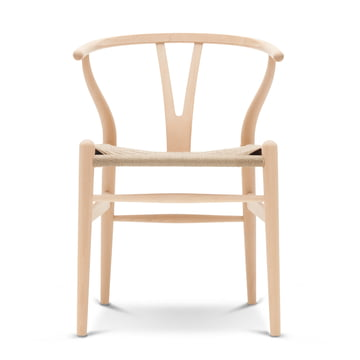 CH24 Wishbone Chair von Carl Hansen in Buche geseift / Naturgeflecht