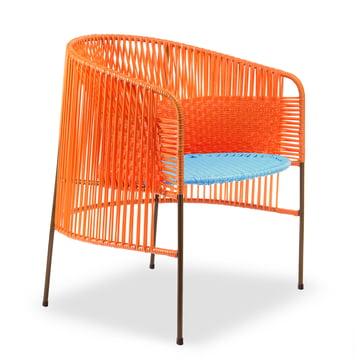 ames - caribe Lounge Chair, orange / türkis / braun