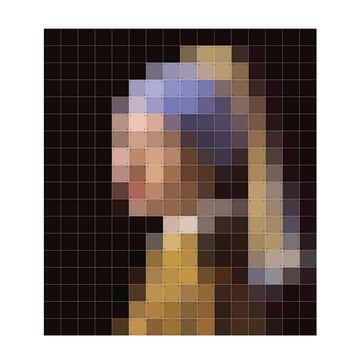 Mädchen mit dem Perlenohrring (Pixel) von IXXI in 224 x 252 cm