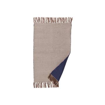 ferm Living - Nomad Teppich small, 60 x 90 cm, dunkelblau