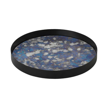 Coupled Tablett large Ø 30 cm von ferm Living in Blau