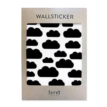 Mini Clouds Wandsticker von ferm Living in Schwarz