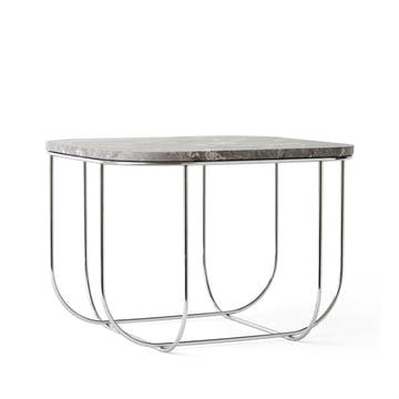 Cage Table von Menu in Marmor / Chrom