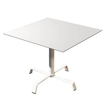 Tonik Tisch 70 x 70 cm Gestell Elica von Fast in Weiß