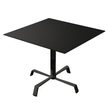 Tonik Tisch 70 x 70 cm Gestell Elica von Fast in Schwarz